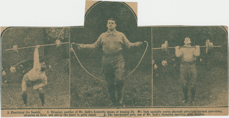 Photos of Thomas Inch exercising