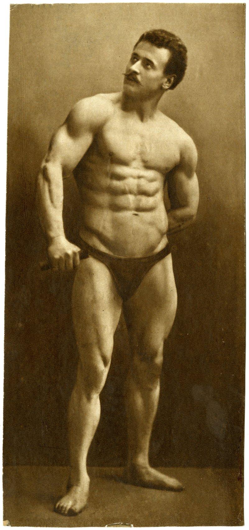 Eugen Sandow abdominal and arm pose | The Index