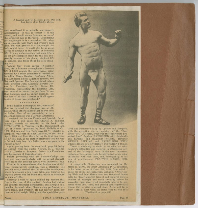 The Great Sandow, part 11 continued