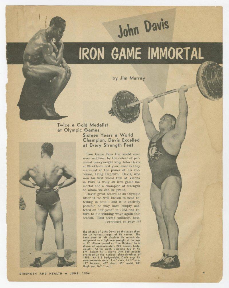 John Davis--Iron Game Immortal