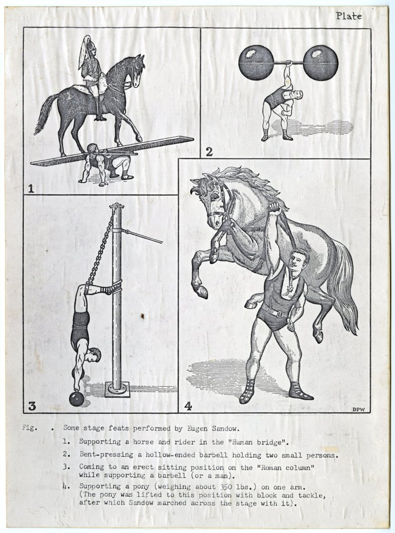 Some stage feats performed by Eugen Sandow