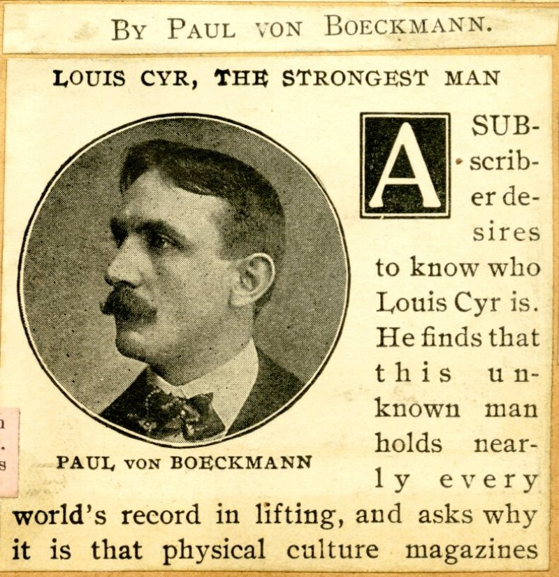 Page 9 detail - Louis Cyr, the Strongest Man