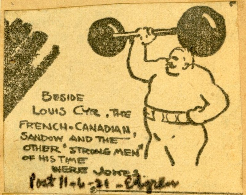 Page 10 detail - Sandow and the other Strong Men of his time were jokes