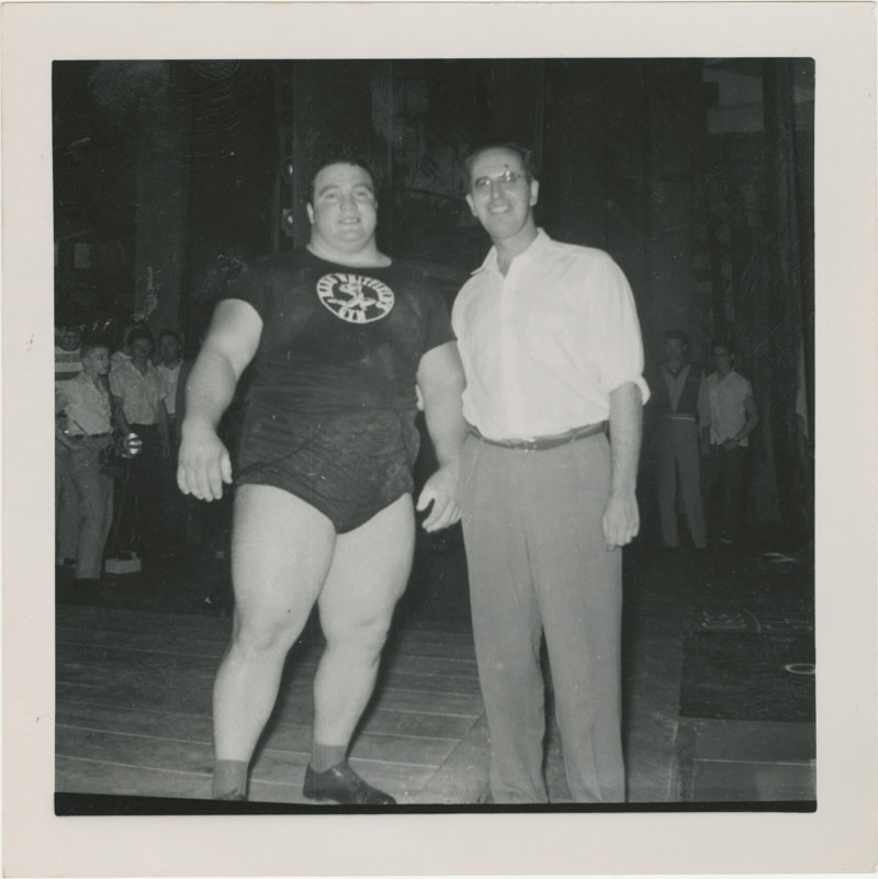 Paul Anderson with Jim Dick