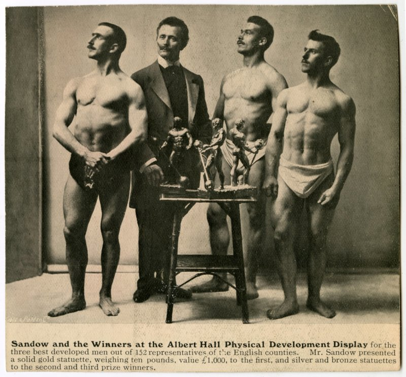 Sandow and the Winners at the Albert Hall Physical Development Display