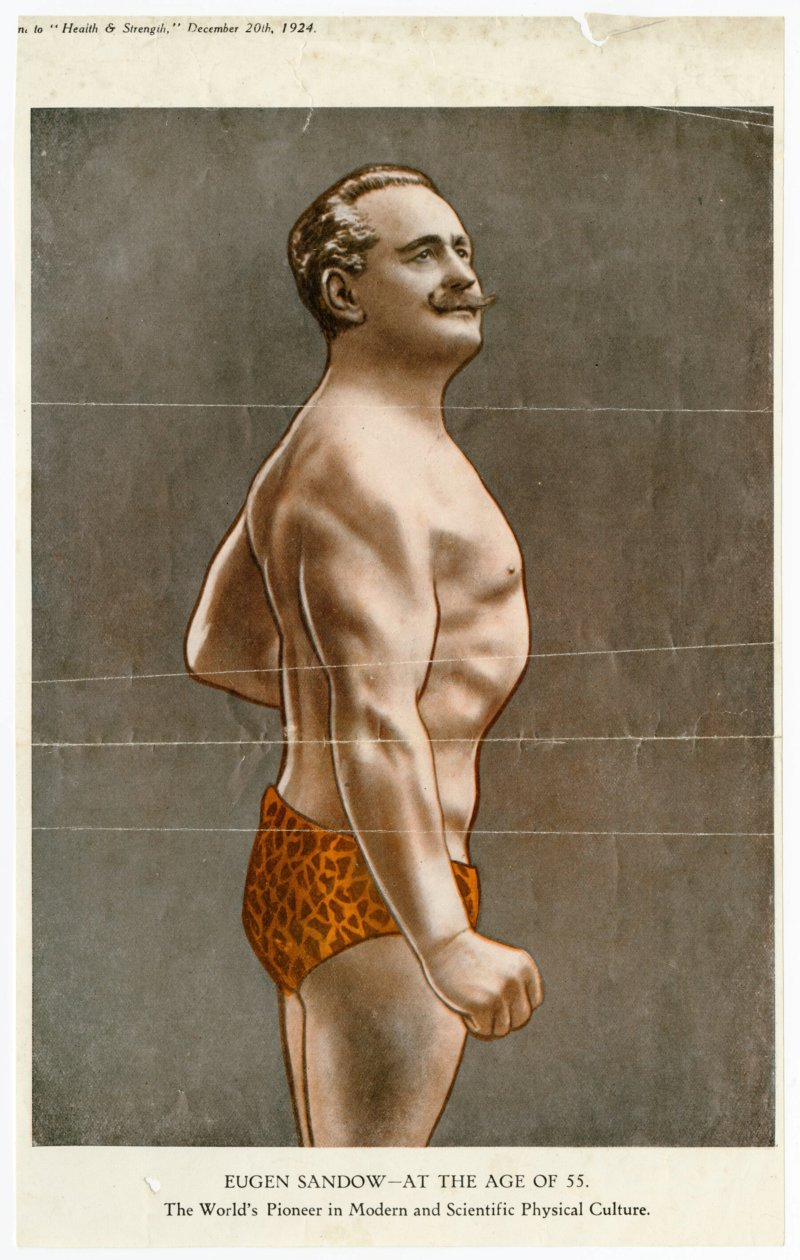 Eugen Sandow at the age of 55