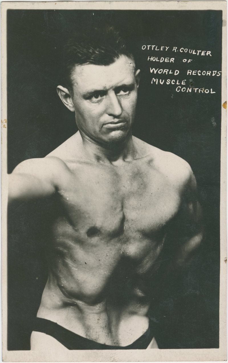 Ottley R. Coulter Holder of World Records Muscle Control