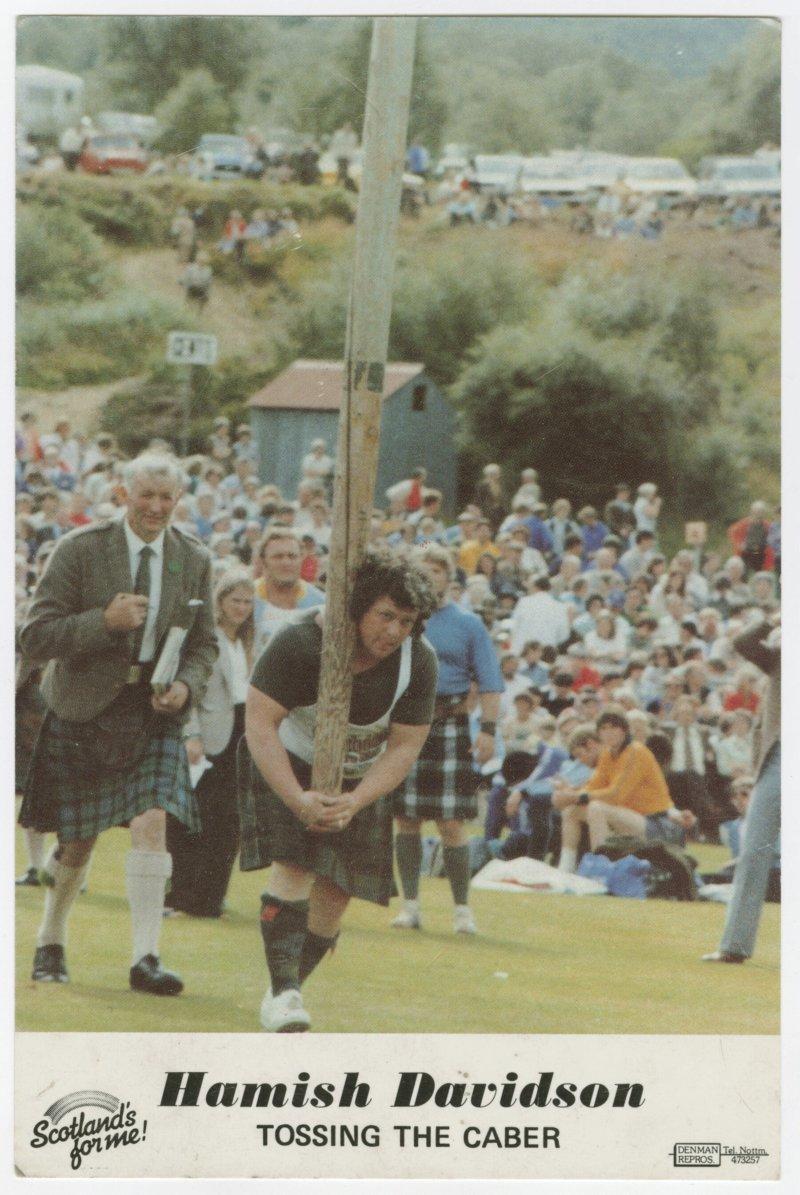 Hamish Davidson Tossing the Caber