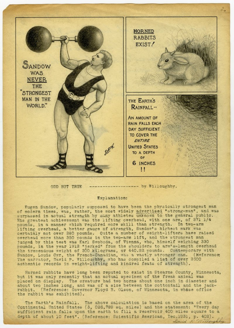 Sandow was never the Strongest Man in the World