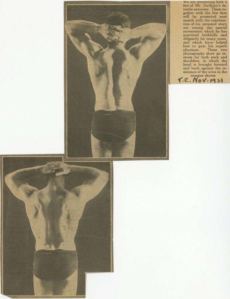 Charles Atlas Posing with Hands behind head