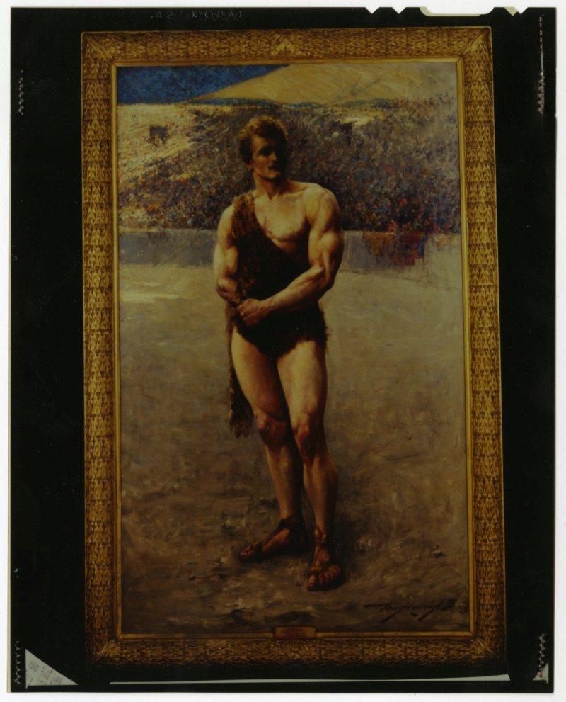 Eugen Sandow portrait as gladiator