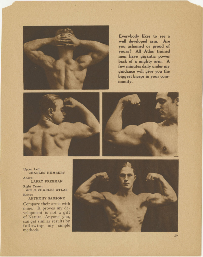 Charles Atlas and Others Posing