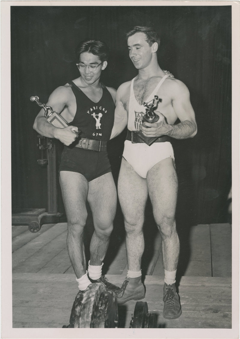 Photo of Tommy Kono and Pete George