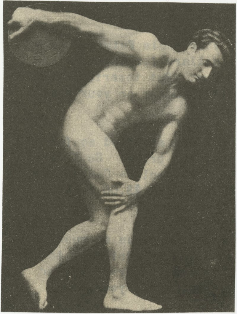 Charles Atlas in Discus Thrower Pose