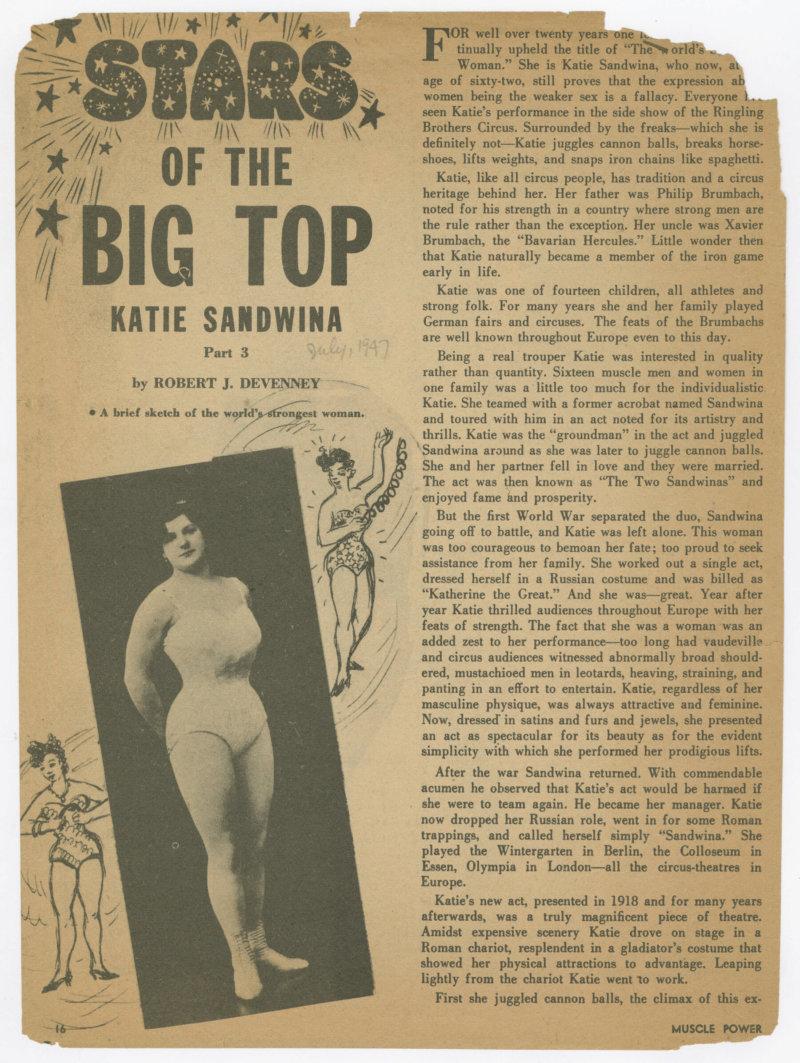 Stars of the Big Top - Katie Sandwina