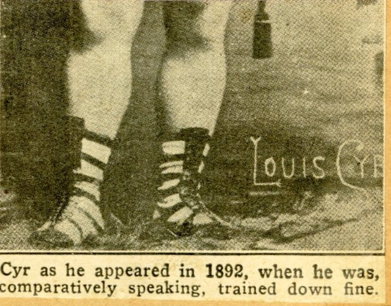 Page 10 detail - Cyr as he appeared in 1892