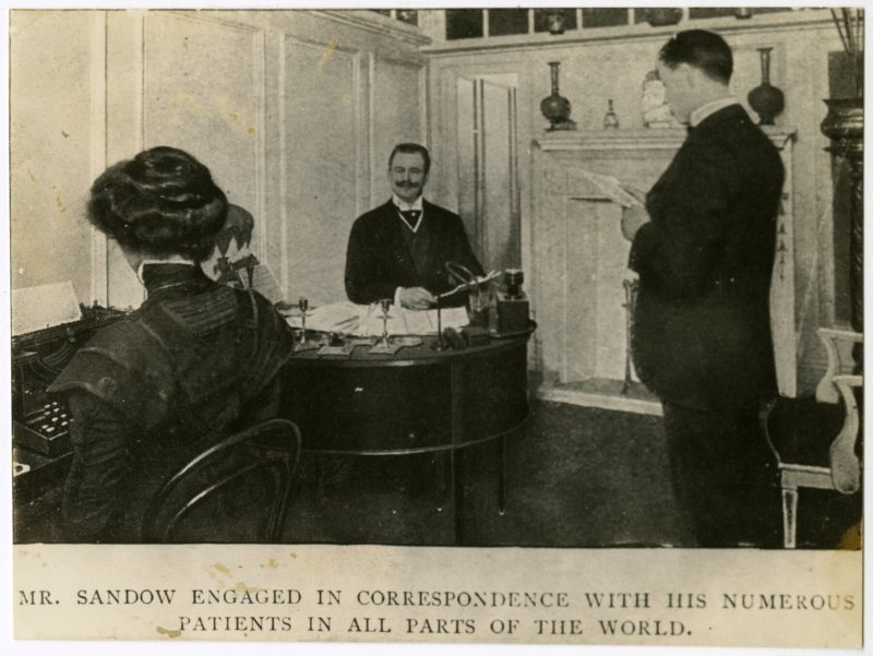 Mr. Sandow engaged in correspondence