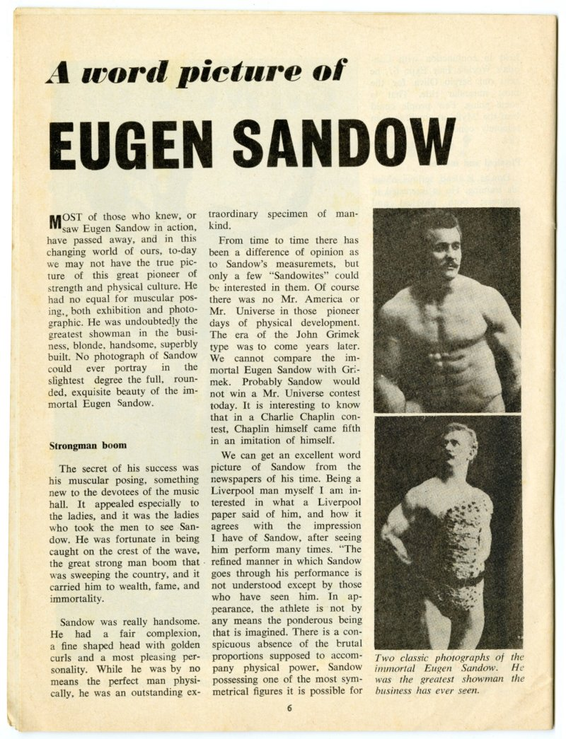 A Word Picture of Eugen Sandow