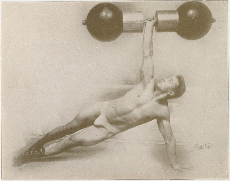 Photo of Antone Matysek lifting